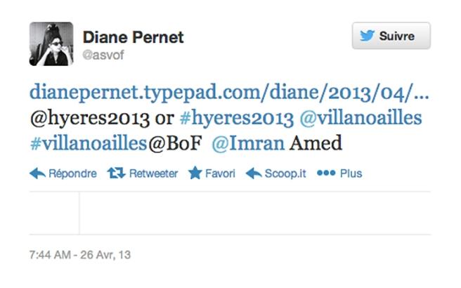 tweet-diane-pernet