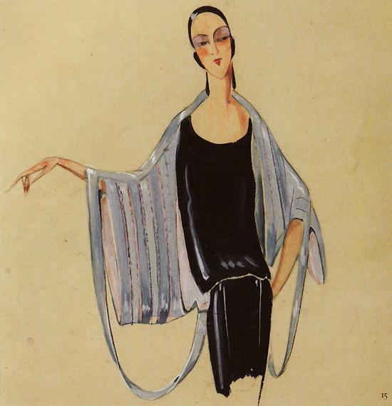 brimborion (1923), Jeanne Lanvin lacère et réactualise les manches d'un kimono